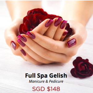 Gelish Manicure and Pedicure
