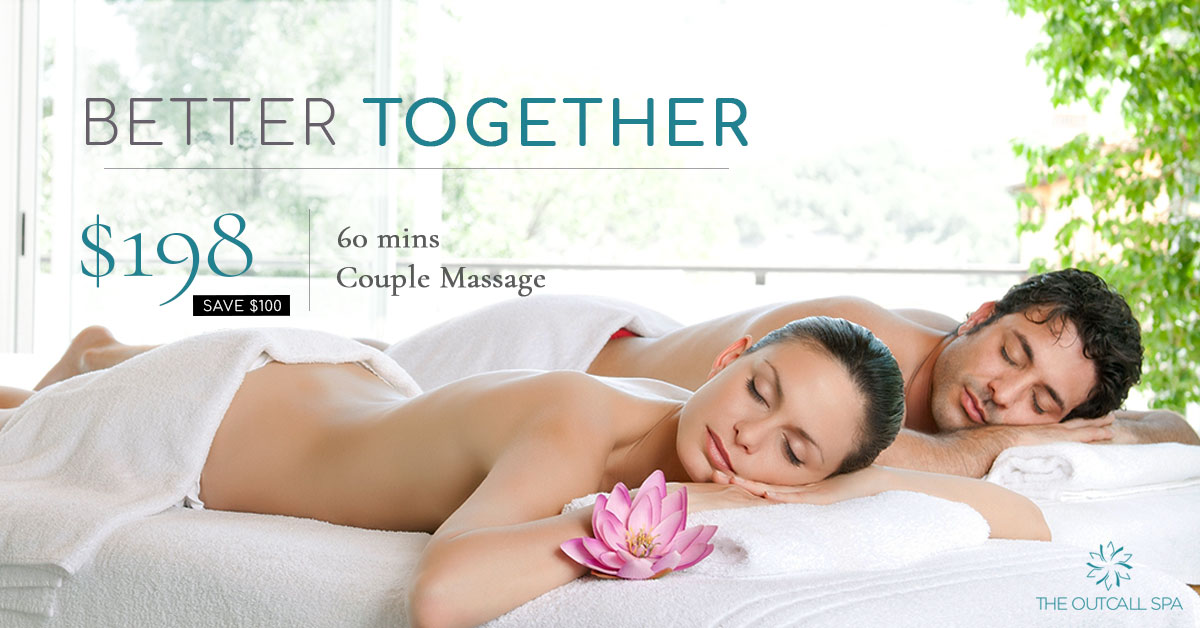 60 min Couple Massage by The Outcall Spa