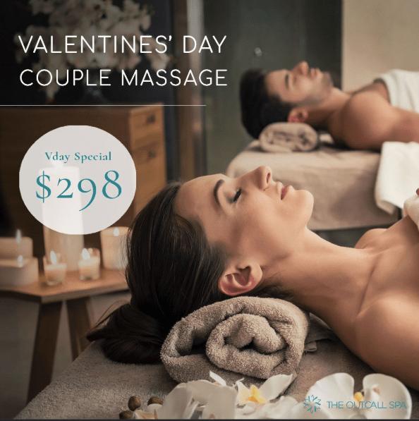 Valentines Day Couple Massage